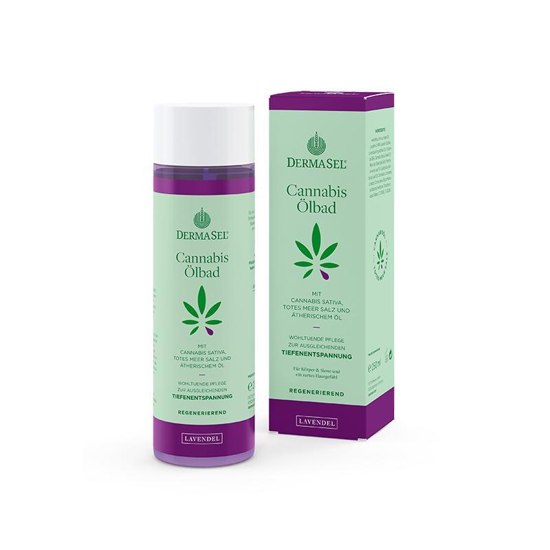 Cannabis Ölbad Lavendel